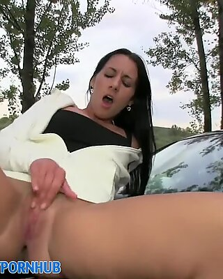 PublicAgent HD Real outdoor fucky-fucky with jizz over udders to finish