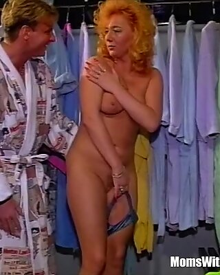 Blonde Mature Fucked In The Closet