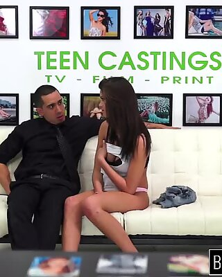 Insane rough fuck on casting with 18YO Carrie Brooks