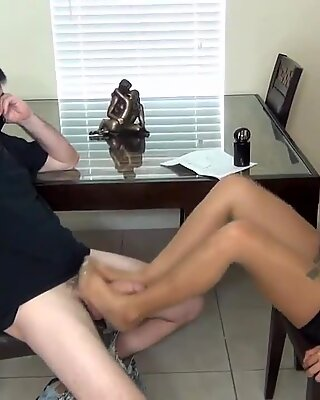 Nylon Feet Footjob  On ATAFILM.COM