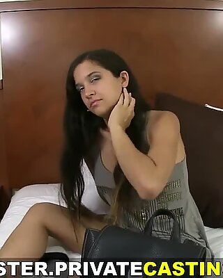 Private casting x paid audition with messy cumshot