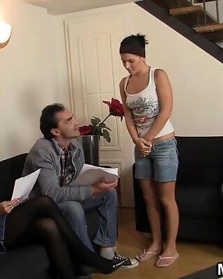 Mature couple seduce Czech teen