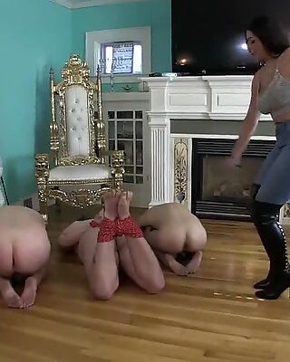 Beautiful goddess sexy denim boots spank mens