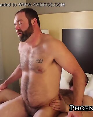 Two lusty bears meet for an exciting day of raw anal fucking