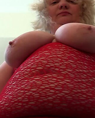 large mounds and a chubby figure of a mature bbw