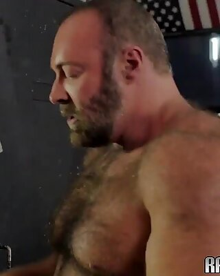 Hairy hunk gets his tight asshole drilled