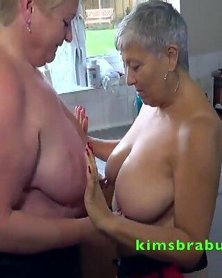 British Mature Pornstars in the kitchen
