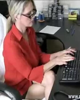 Milf Gets A Cumshot From Young Guy While Working