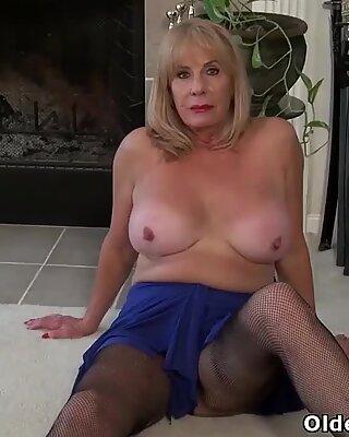 yankee granny Phoenix Skye demonstrates her depraved skills