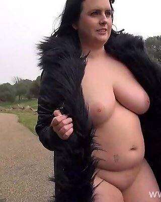 ultra-kinky Sarahs public bareness and jaw-dropping mum flashing outdoors with chubby english am