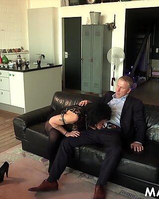 Granny slut loves fucking big cock