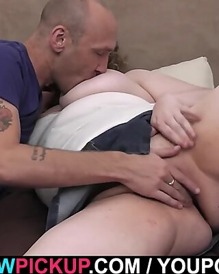 Busty chubby picked up by stranger