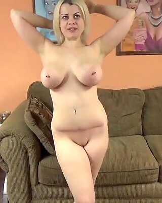 Busty babe Nadia White is giving a point of view blowjob