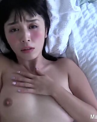 Cute Asian Marica gets a long cock in a sexy home movie