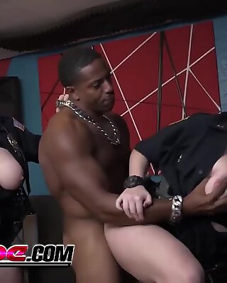 Huge titted cops are craving a big black cock to ravage their asses