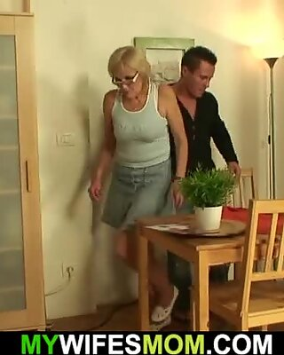 lucky stud fucks very hot skinny mother-in-law