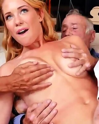 Old mature with young guy Frannkie And The Gang Tag Team A Door To Door Saleswoman