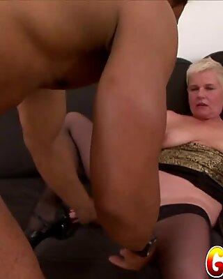 Granny Vs BBC - GILF DD Fucks Black BF