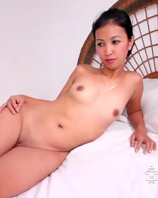 Sweet Thai babe getting pussy fucked by white cock POV