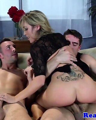 Busty blonde girlfriend milf fucked hard