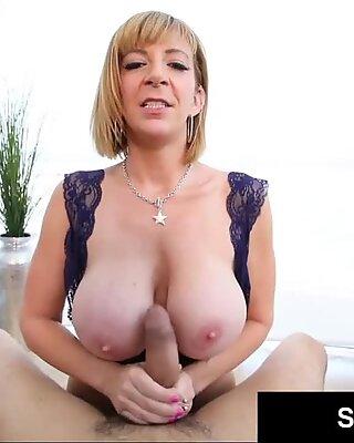 Sweet PAWG Milf Sara Jay Milks Hard Cock On Her Busty Boobs!