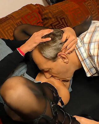 XXX OMAS - Dirty mature German wife in wild fuck