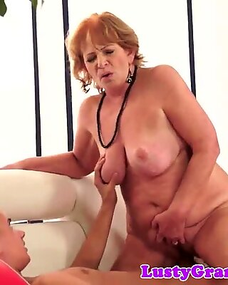 Bigass grannie smashed and gives blow-job