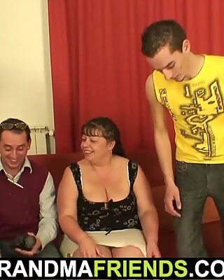Porn movie with busty old woman