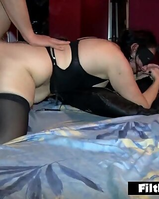 New girls get fucked in a night club