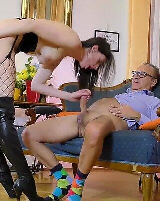 Stockings brit spermed