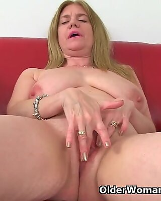 British milf Lily can t hide her nylon fetish