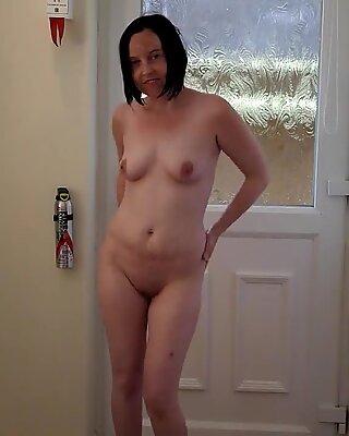 Skinny British Wife Dancing