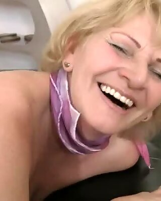 Dirty granny eats a tight wet pussy in a 69 position