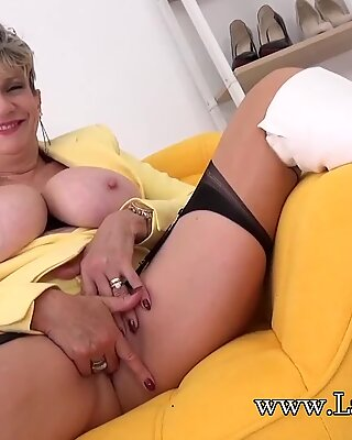 Busty Blonde Lady Sonia Wants to Wank with You
