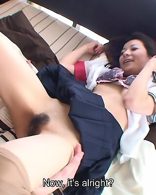 Asian schoolgirl getting fucked by her man