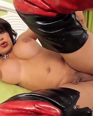 Bigbooty latina tranny ass pounded deep
