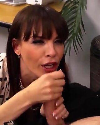 Darling Dana Dearmond looks sexy at the office