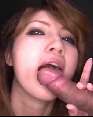 Hot blow bang session along staggering Misaki Aiba