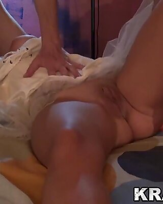 AyesaX doing a blowjob in a homemade porn scene