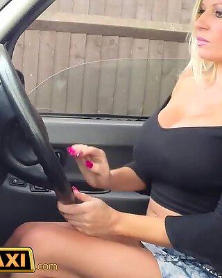 FemaleFakeTaxi fresh driver luvs a big dark-hued cock
