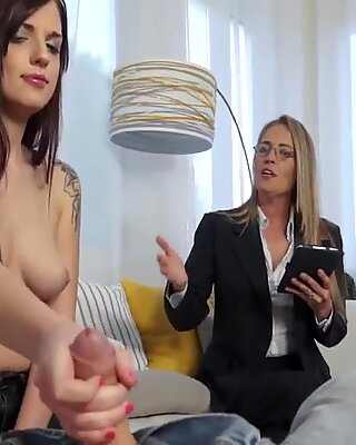 Pov milf intructs stepdaughter to blow